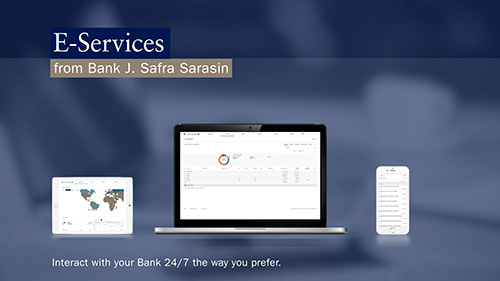 Video E-Services: Interact with your Bank 24/7 the way you prefer.